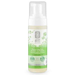 Espuma Desmaquillante Hidratante para piel sensible y contorno de ojos