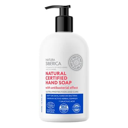 Jabón de manos natural certificado efecto Higienizante