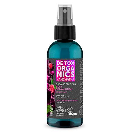 Spray-loción corporal certificado orgánico