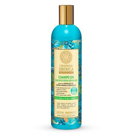 Champú Sin Sulfatos con hidrolato de espino amarillo orgánico para cabello rizado y ondulado, Rizos Definidos